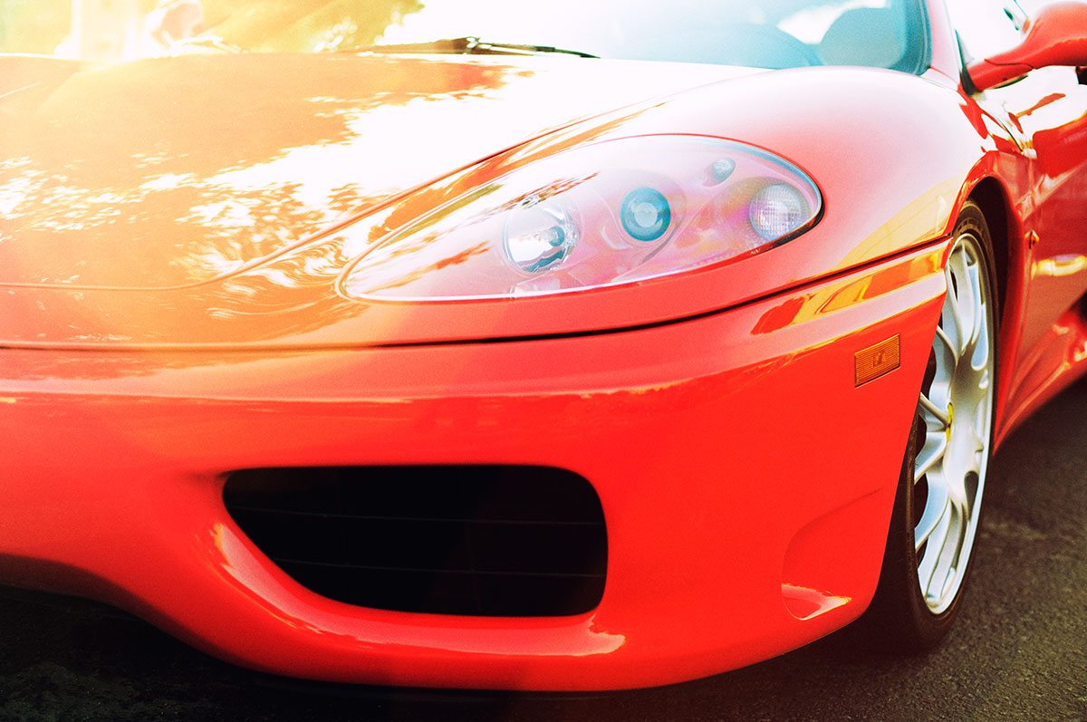 Red Ferrari 360 Sunrise car photo from Burbbble