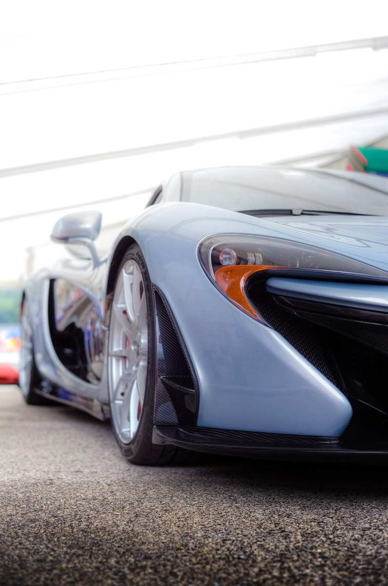 Polaris blue McLaren P1 Paddock car photo from Burbbble