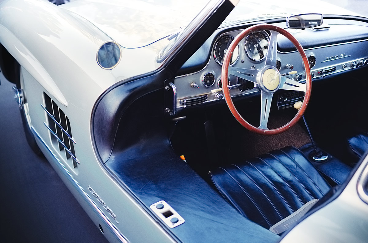 Classic Mercedes 300SL Gullwing Interior car photo from Burbbble