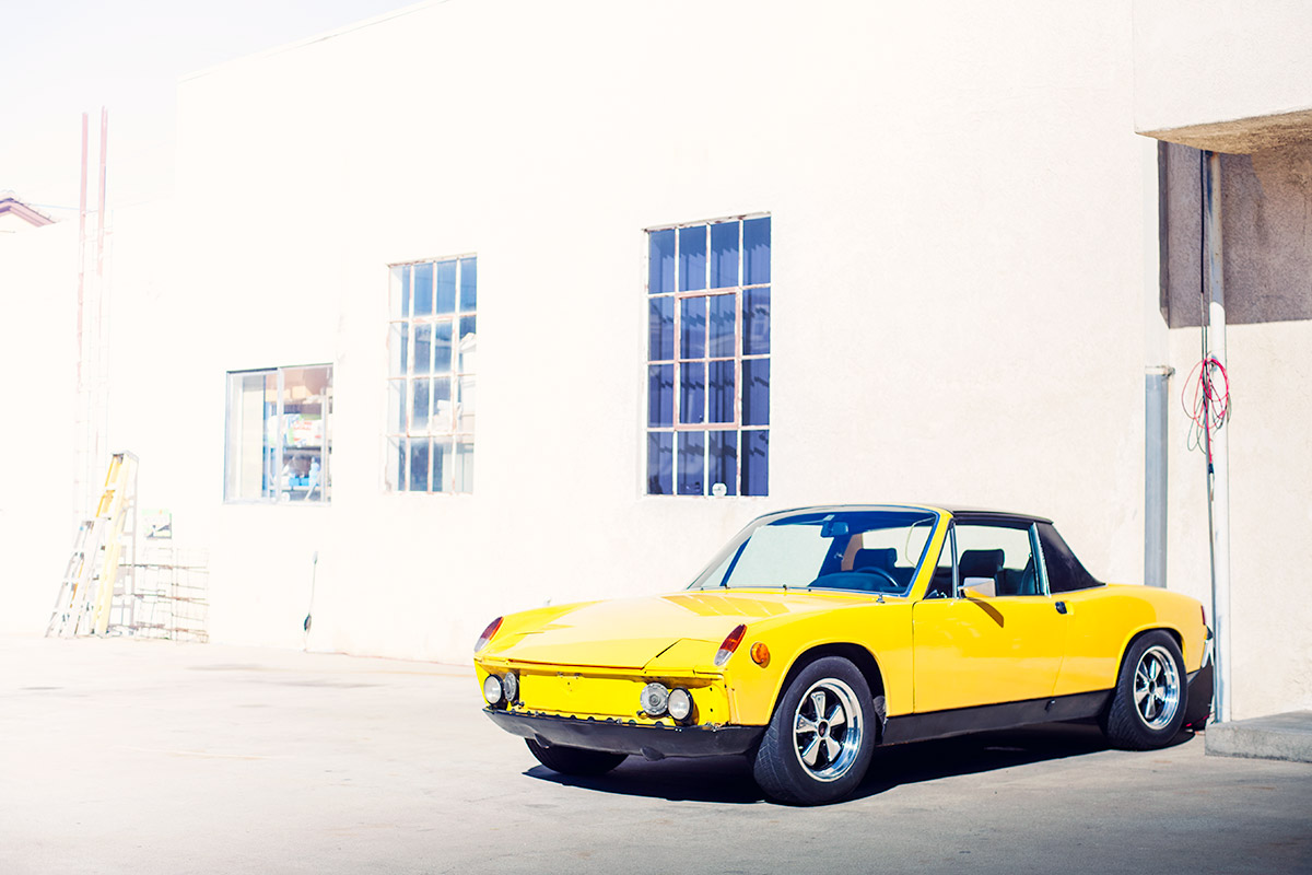 Classic Yellow Porsche 914 wallpaper from Burbbble
