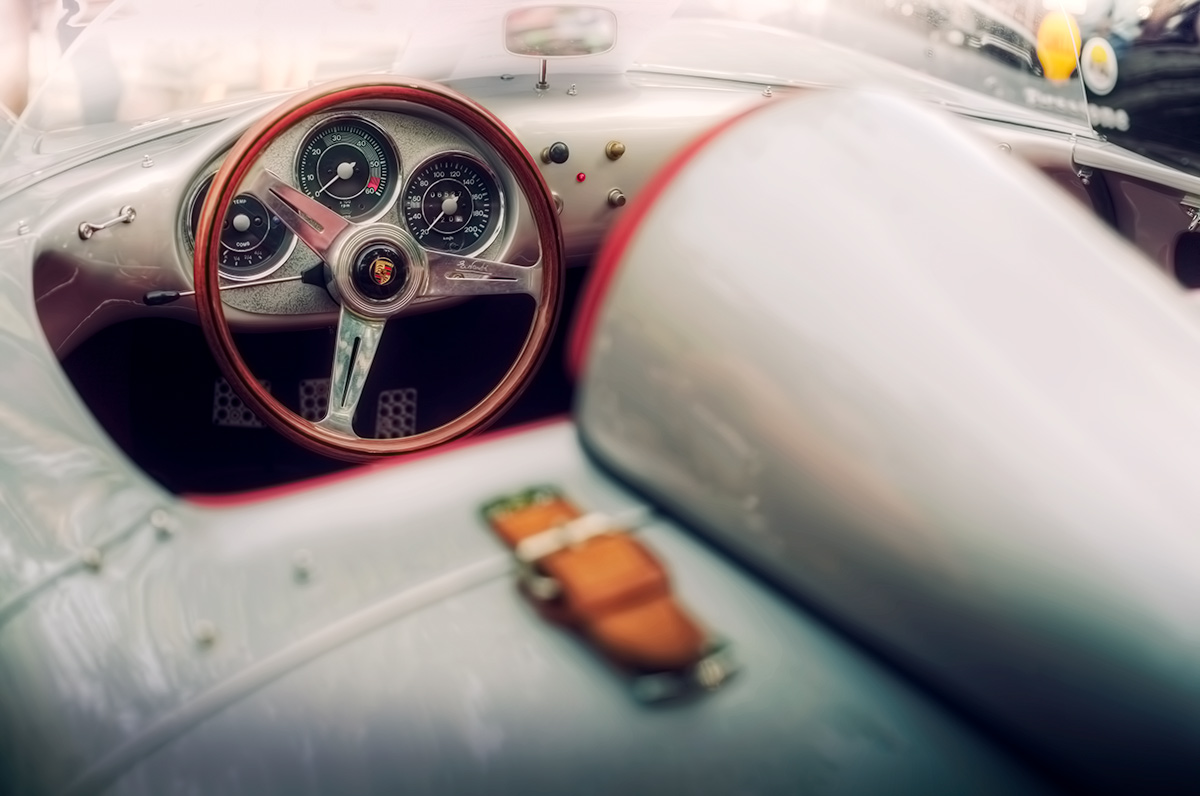 Legendary Porsche 550 Spyder James Dean tribute