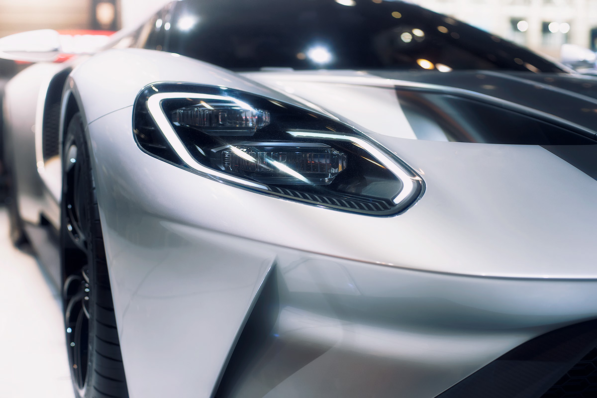 The All-New 2017 Ford GT Supercar Headlight