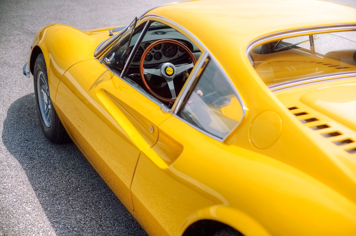 Classic Ferrari Dino 246 GT in Giallo Fly Yellow