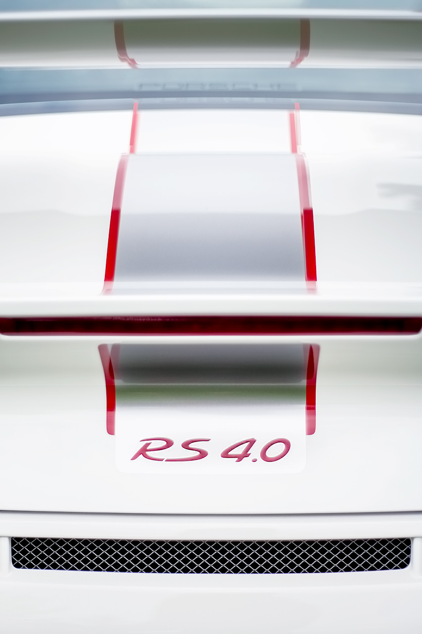 White 2012 Porsche 911 GT3 RS 4 liter sports car spoiler