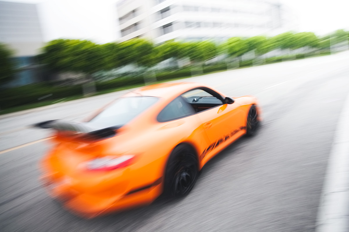 Pure orange Porsche 911 997 GT3 RS in California